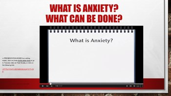 Test Prep Anxiety Stress Reduction PowerPoint w 3 video links Assessment