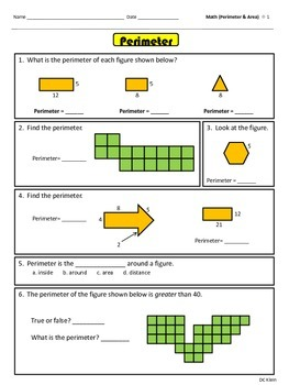 Test Prep: Area and Perimeter