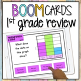 First Grade Math Review BOOM CARDS | Test Prep Math  | Dig