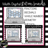 5th Grade Math Digital Stations with Movable Pieces  - Dis