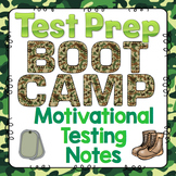 Test Prep: Boot Camp Theme Motivational Testing Notes FREEBIE