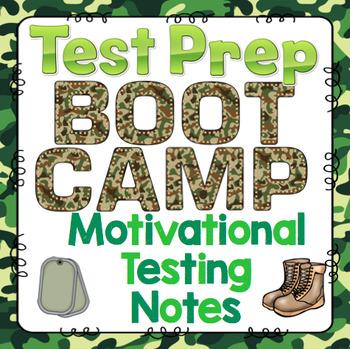 test prep boot camp theme motivational testing notes. Black Bedroom Furniture Sets. Home Design Ideas