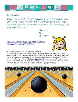 Test Prep Bowling Review Game