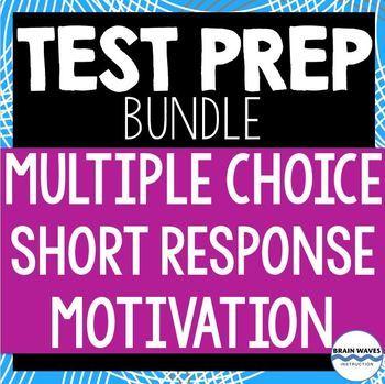 Test Prep Bundle - Multiple-Choice, Short Answer, and Motivational