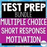 ELA Test Prep Bundle - Multiple-Choice, Short Answer, and Motivational