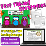 Test Taking Strategies Craftivity and Reading Passages