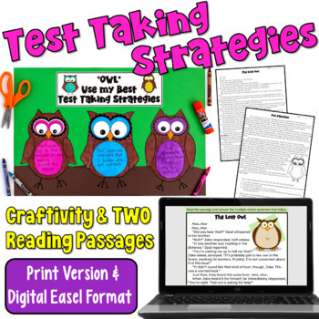 Test Prep Craftivity and Reading Passages
