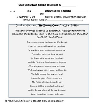 ELA Test Prep Poetry