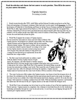 Test Prep: Captain America