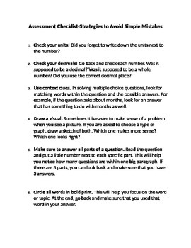 Test Prep Checklist: Avoid Simple Errors