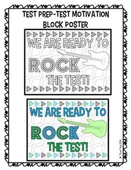 Test Prep Collaborative Poster!  Team Work Activity - Test Motivation