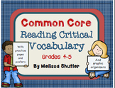 Test Prep Common Core Vocabulary- Practice Pages, Posters, Graphic Organizers