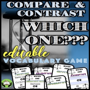 Test Prep: Compare and Contrast Vocabulary FOR ANY WORD LIST