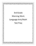 Test Prep Daily Work Math/LA 3rd Grade
