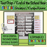 Test Prep / End of School Year Review: Digital Escape Rooms Language Arts