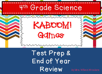 Test Prep & End of Year 4th Grade Science Review Games