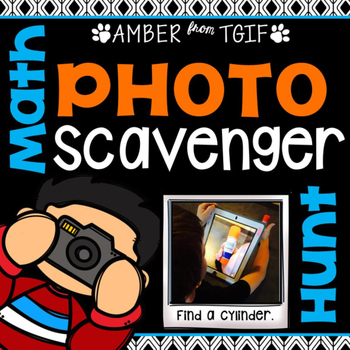 End of the Year Math Photo Scavenger Hunt