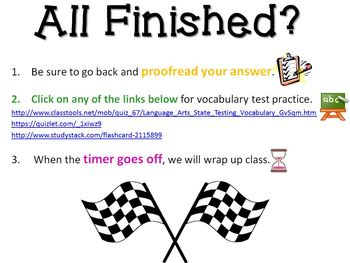 Test Prep Extended Response