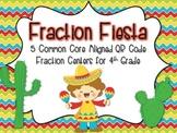 QR Code Fraction Fiesta {5 CC Aligned Fraction Centers for 4th Grade}