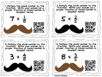 QR Code Fraction Fiesta {5 CC Aligned Fraction Centers for 4th Grade}