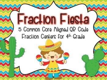 QR Code Fraction Fiesta {5 CC Aligned Fraction Centers for
