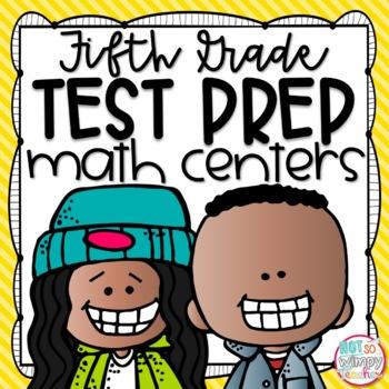 Test Prep Fifth Grade Math Centers