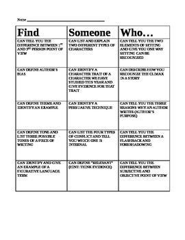 "Test Prep ""Find Someone"" Game"