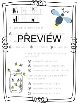 Test Prep: Firefly Reading Comprehension Closed Reading with Questions