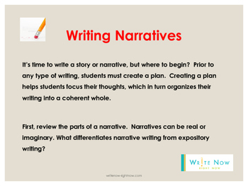 Test Prep For Narrative Writing Grades 3-5