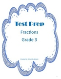 Test Prep Fractions Third Grade- Number Lines, Equivalent