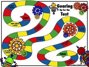 Test Prep: Gearing Up for the Test ELA Review Game for 3-5