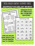 Test Prep Glow Games Dice Grammar and Vocabulary Review