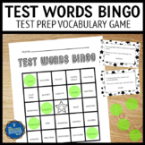 Test Prep Test Words Bingo