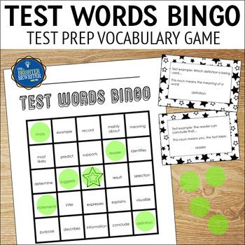 Test Prep Testing Vocabulary Bingo
