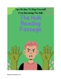 Hulk: Controlling Anger Reading Passage