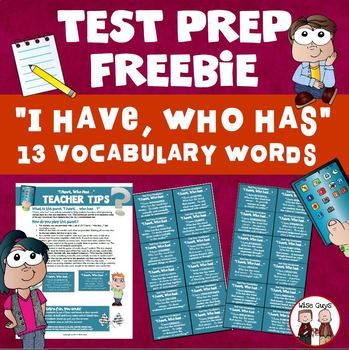 Test Prep I Have Who Has Vocabulary Game