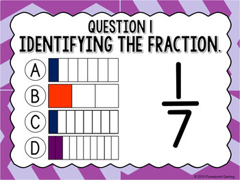 Test Prep - Identifying Fractions Powerpoint Game