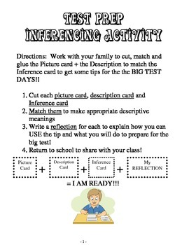 Test Prep Inferencing Matching Game Activity