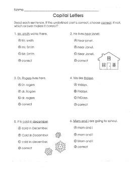Test Prep Language Arts Common Core (Grade 1)