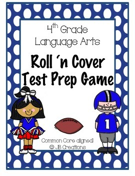 Test Prep Roll 'n Cover Language Arts Game (3rd -5th grade