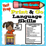 Test Prep Language Skills 4th Grade Print and Go