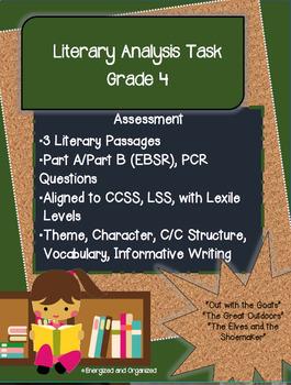 Test Prep: Literary Analysis Task 4th Grade