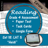 Reading Part A Part B Test, Task Cards LAT 5- Literary & Poetry