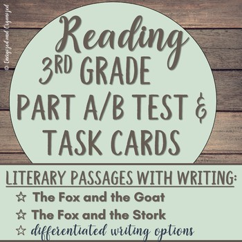 Test Prep: Literary Analysis Task Cards and Practice Test Bundle- Grade 3