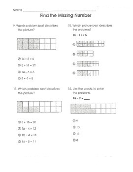 Test Prep Math Common Core (Grade 1)