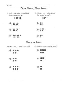 Test Prep Math Common Core (Grade K)