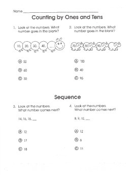 Test Prep Math Common Core (Grade K)