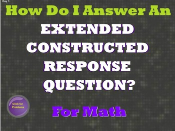 Test Prep: Math Constructed Response Questions