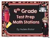 Test Prep Math Stations- Fourth Grade