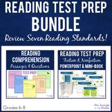 Test Prep:  Middle School Reading Skills Review BUNDLE - FSA, PARCC